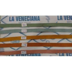 CINTA LINO 15 MM COLORES  50% LINO Y 50% ALGODON